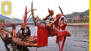 A Corrida de Barco Dragão Celebra o Passado Ancestral da China