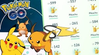 Raichu  - (Pokémon) - Pokemon GO | HIGH CP PIKACHU EVOLUTION TO RAICHU! Pikachu Catching MADNESS