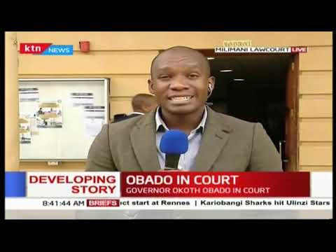 Migori Governor, Okoth Obado is set to appear in court today