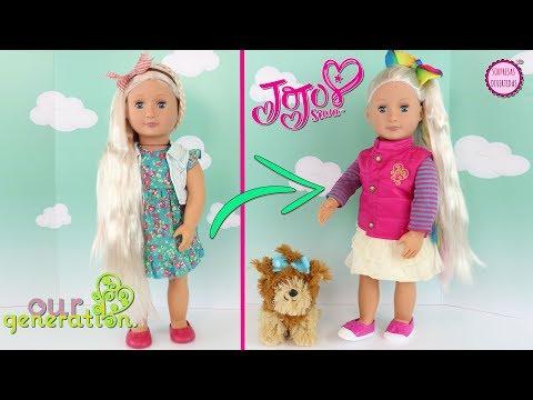 🎀Mi Propia Muñeca JoJo Siwa 🎀Transformando una muñeca Our Generation en JoJo Siwa Doll