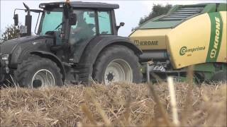preview picture of video '[GoPro] Rundballenpressen 2014 mit Valtra N 142 und Krone Comprima V 150 XC'
