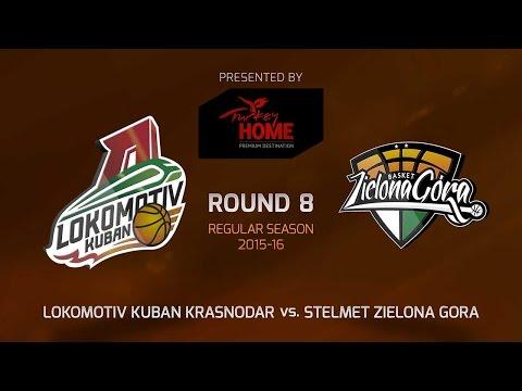 Highlights: RS Round 8, Lokomotiv Kuban Krasnodar 51-66 Stelmet Zielona Gora