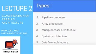 PDS : Classification of Parallel Architecture