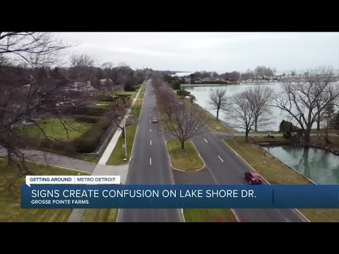 Signs create confusion for drivers on Lake Shore Drive in Grosse Pointe Farms