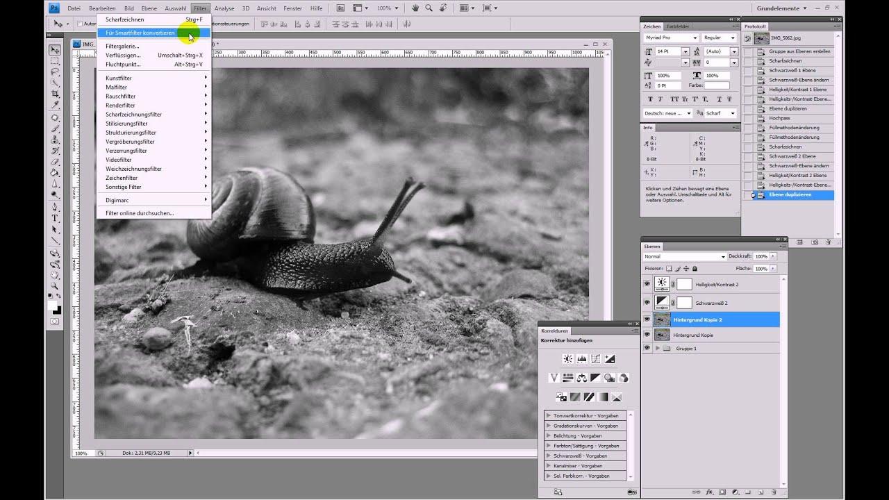 Cooler Farblook: S/W-Bild mit Hochpass – Photoshop-Tutorial