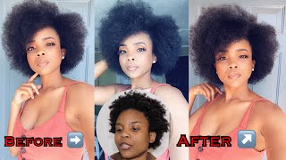 How To| Perfect 4c Afro brow out using blow dyer without heat damage