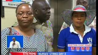 Ministry of Labour admits the nurses' strike is as a result of compounded errors