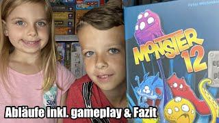 Monster 12 (Kosmos) ab 7 Jahre - witziges einfaches Zockerspiel, Würfelspiel für Zwischendurch