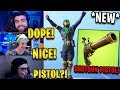 "Streamers React to *NEW* Shotgun Pistol + ""Slap Happy"" Emote! 