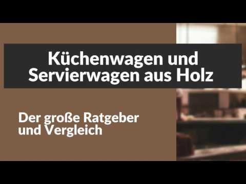 Küchenwagen und Servierwagen aus Holz