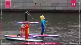 """مدينة """"سان بطرسبرج"""" تنبض بالألوان الزاهية في مهرجان التجديف"""