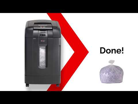 Video of the Rexel Auto+ SmarTech 750X Shredder