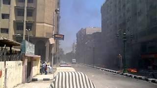 preview picture of video 'اسيوط - شارع الجمهورية - اشتباكات مع الداخلية'