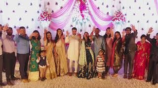 DJI Phantom 4 pro Wedding Reception cinematic footage by drone Thane Mumbai Indian Wedding