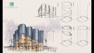 Draw Like An Architect - Essential Tips - Basic Shapes - Munich Concert Hall Competition - Part 9