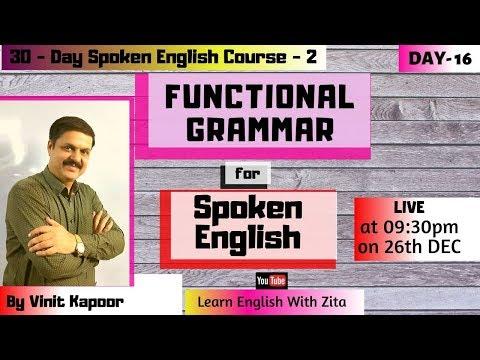 Spoken Course-2 Day 16 Learn English Through Sentence ...