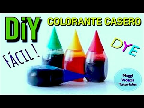 Como Hacer Colorante Casero (NO ALIMENTICIO)