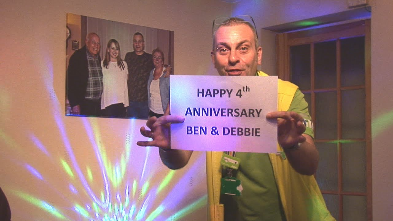 Happy 4th Anniversary Ben & Debbie!