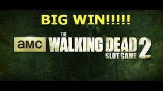The Walking Dead 2 slot machine MAX BET LIVE PLAY BIG WIN w/BONUS Aristocrat AMC  free spins