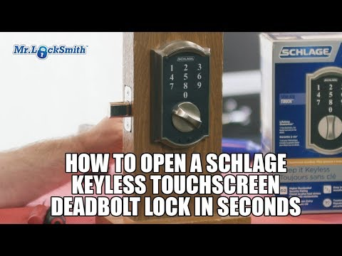 How to Open a Schlage Keyless Touchscreen Deadbolt Lock in Seconds | Mr. Locksmith™ Video