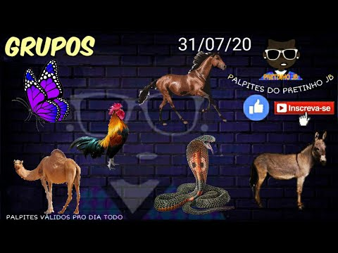PALPITES DO PRETINHO JB 31/07/2020 SEXTA-FEIRA