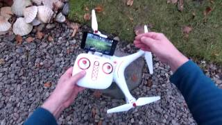 Syma X8SW Altitude Hold, WiFi FPV Flight & Review Summary