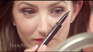Got your hands on they're real! push-up liner—the first ever lash-hugging gel liner pen? Like any new technology, this innovative new eyeliner has a bit of a learning curve. But once you get the hang of it, we know you'll love it as much as we do!  We've put together our top tips & tricks to master this innovative new liner, like prepping the pen, dispensing the right amount of product & getting a smooth line every time. Here's how to be a push-up liner pro in no time!  http://www.benefitcosmetics.com  Subscribe for more Tips & Tricks: http://bit.ly/Utd37q  View in HD!