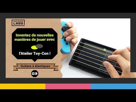Construction d'une guitare en vidéo de Nintendo Labo