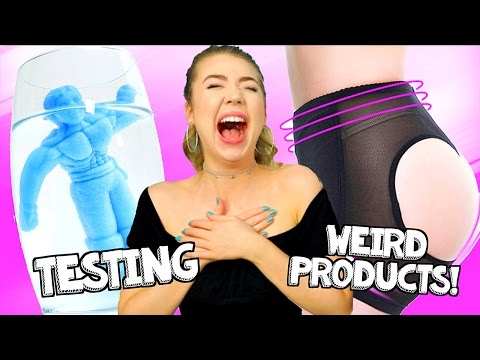TESTING WEIRD PRODUCTS FOR GIRLS!