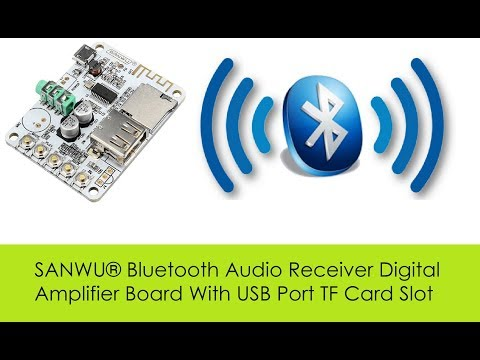 SANWU® Bluetooth Audio Receiver Digital Amplifier Board With USB Port TF Card Slot from Banggood.com
