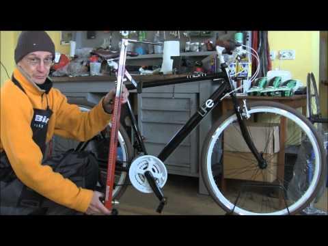 Regolazione altezza e inclinazione sella bici