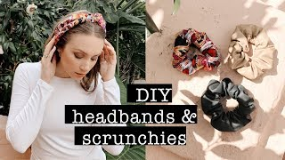 TREND: DIY Headbands & Scrunchies NO-SEW // Leather, Linen & Silk | XO, MaCenna