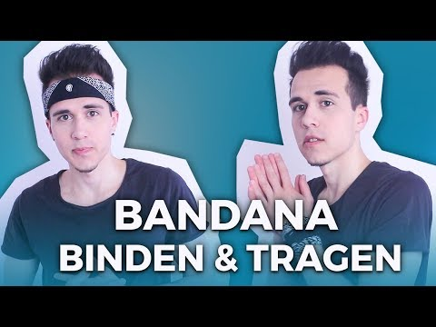 Bandana binden & verschiedene Arten zu tragen
