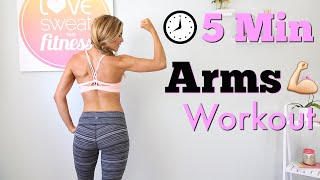 5 Minute Arms Workout by Love Sweat Fitness