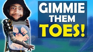 GIMMIE THEM TOES | TOE JAR COLLECTION | HIGH KILL FUNNY GAME - (Fortnite Battle Royale)