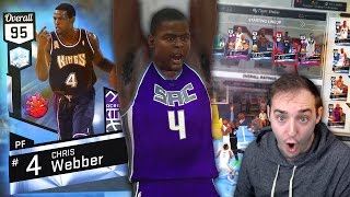 NBA 2K17 My Team BEAST DIAMOND CHRIS WEBBER DEBUT! POSTER DUNK OF THE YEAR?