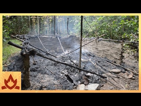 Primitive Technology: Hut burned down, built new one