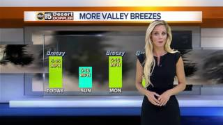 Clouds, breezes Saturday across Valley
