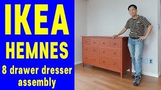 이케아 조립 헴네스 8칸서랍장 조립영상 IKEA KOREA HEMNES 8drawer Dresser Assembly