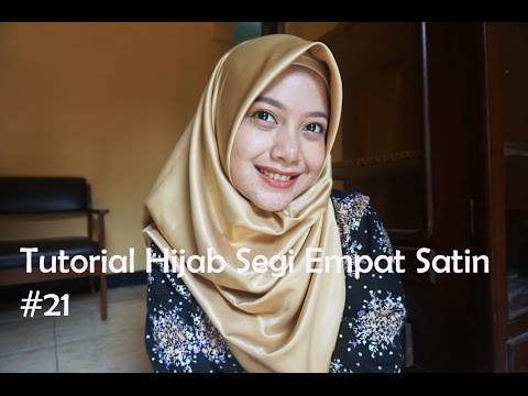 Video Tutorial Hijab Segi Empat Satin #21 - indahalzami