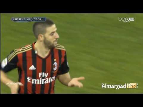 Goal Adel Taarabt (AC.Milan) Vs Napoli 08.02.2014 Commento Tiziano Crudeli