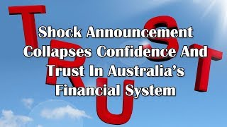Adams/North: Shock Announcement Collapses Confidence And Trust In Australia