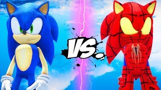 SONIC THE HEDGEHOG vs SPIDER-SONIC (Sonic the Spiderhog)