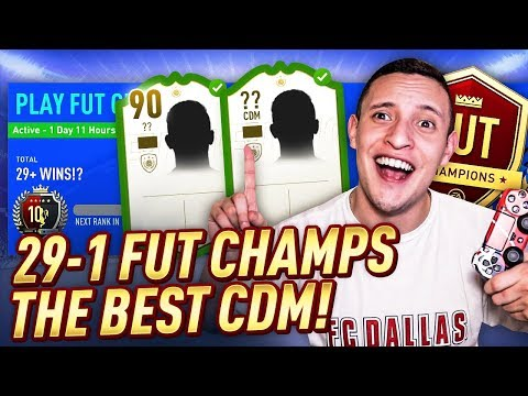 GOT THE BEST CDM IN FIFA!! 29-1 FUT CHAMPS LIVE GAMEPLAY! INSANE COMEBACKS! | FIFA 19 ULTIMATE TEAM