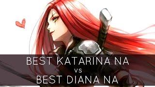 Best Katarina NA Vs Best Diana NA? - Master Tier Katarina Gameplay Highlights | League Of Legends