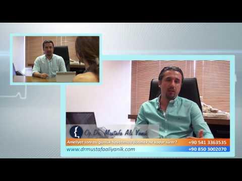 Op. Dr. Mustafa Ali Yanık burun estetiği sonrası günlük hayatımıza dönmek kaç gün sürer