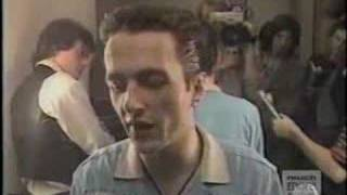 The Clash 1979 Canadian TV backstage interview
