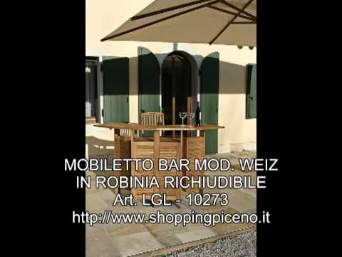 MOBILETTO BAR MOD. WEIZ IN ROBINIA RICHIUDIBILE
