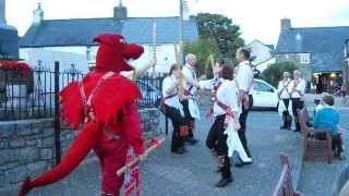 preview picture of video 'Cardiff Morris dance Three Musketeers in Llantwit Major. 20th August, 2013.'