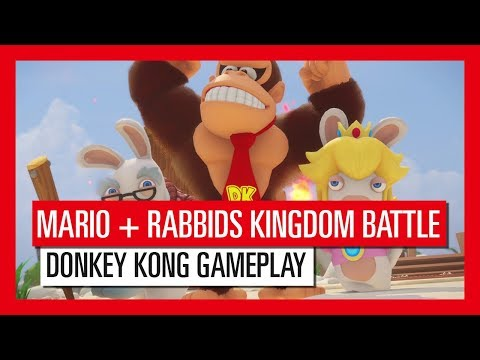 Mario + Rabbids Kingdom Battle Donkey Kong Adventure Gameplay Trailer